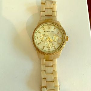Michael Kors Gold and Ivory women's watch